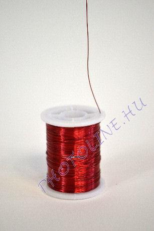 Réz drót piros színben, mérete: 0,3 mm, 10m/tekercs