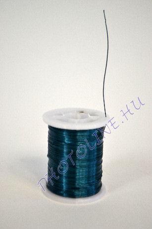 Réz drót középkék színben, mérete: 0,3 mm, 10m/tekercs