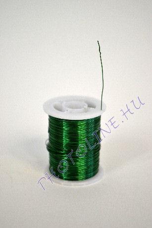 Réz drót élénkzöld színben, mérete: 0,3 mm, 10m/tekercs