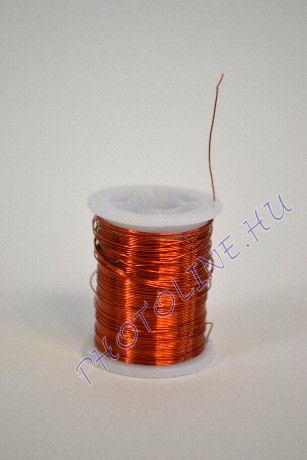Réz drót réz színben, mérete: 0,3 mm, 10m/tekercs