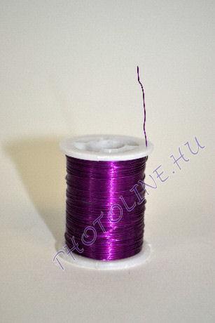 Réz drót sötétlila színben, mérete: 0,3 mm, 10m/tekercs