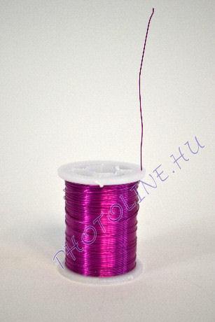 Réz drót középlila színben, mérete: 0,3 mm, 10m/tekercs