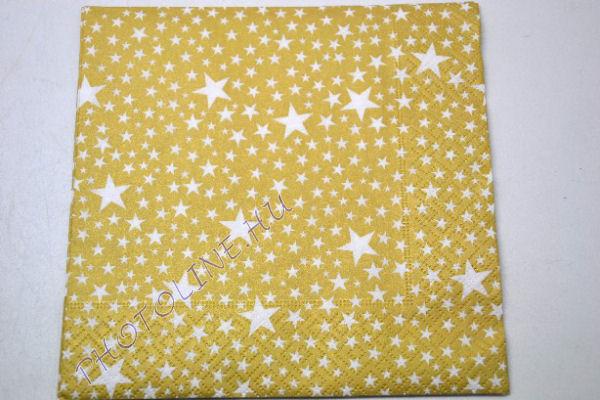 3 rétegű szalvéta arany apró csillagokkal