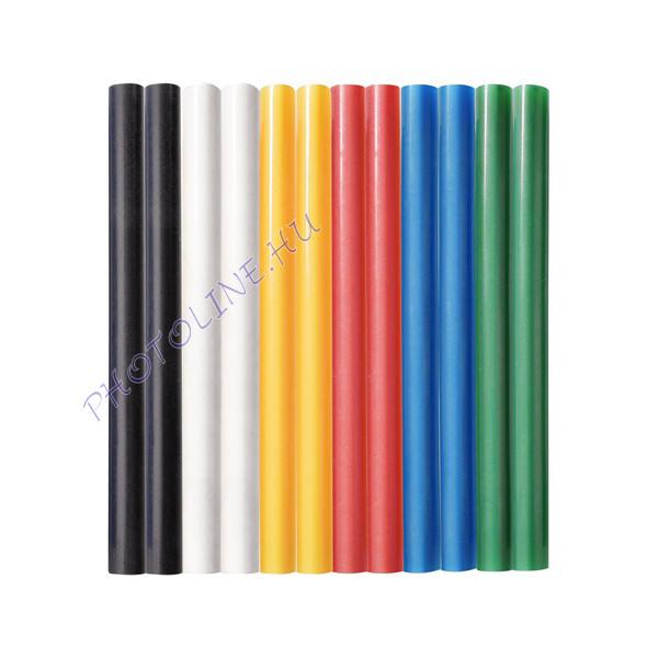 Ragasztórúd 12db, vegyes színek, 100x7 mm