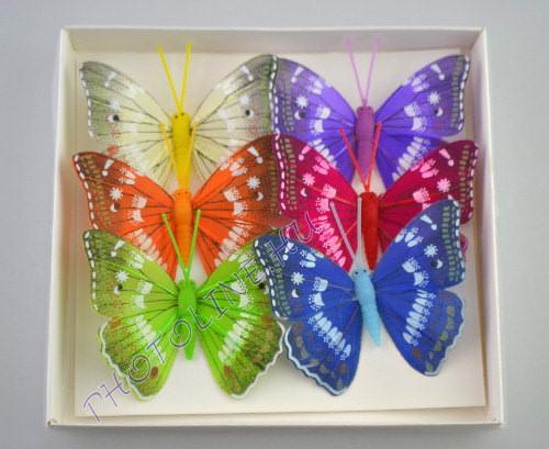Pillangók színes, tollból, 6 db, III.