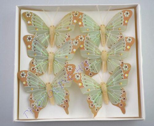Pillangók színes, tollból, 6 db, IV.