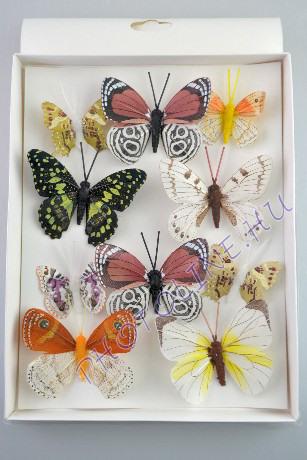 Pillangók színes, tollból, 10 db, I.