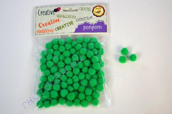 Pompon sötétzöld színben, mérete: 10mm 100db/csomag