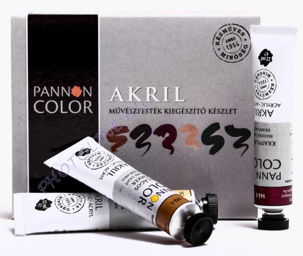 Pannoncolor akrilfesték kiegészítő készlet 6*22ml