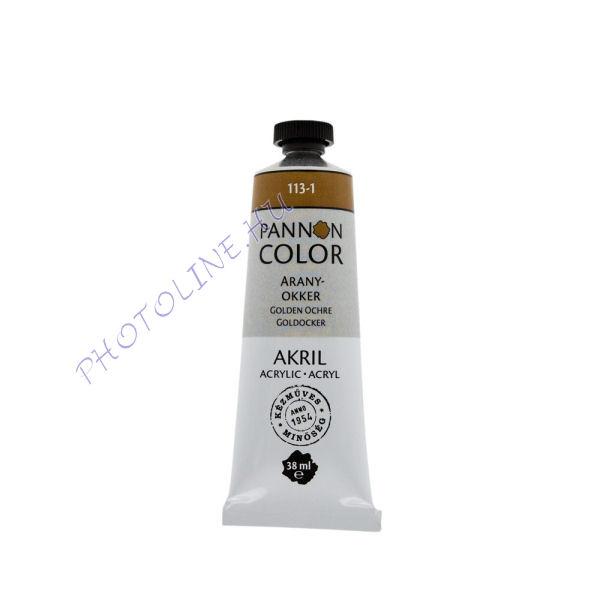 Pannoncolor akrilfesték ARANYOKKER 38ml