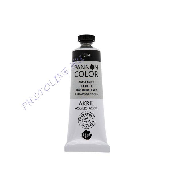 Pannoncolor akrilfesték VASOXIDFEKETE 38ml