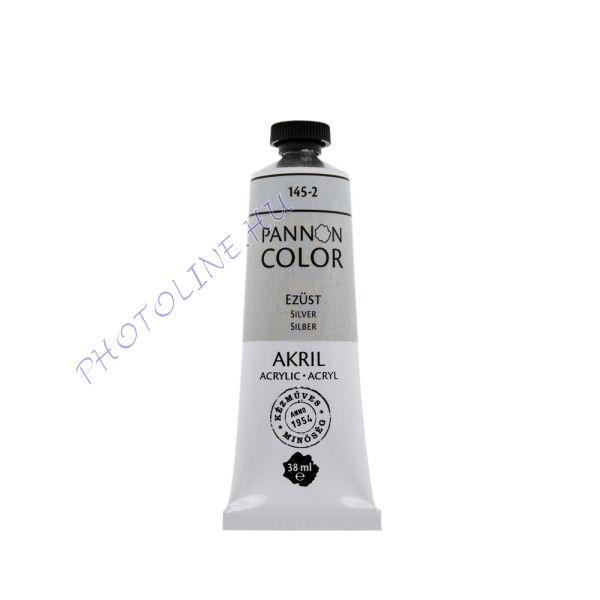 Pannoncolor akrilfesték EZÜST 38ml