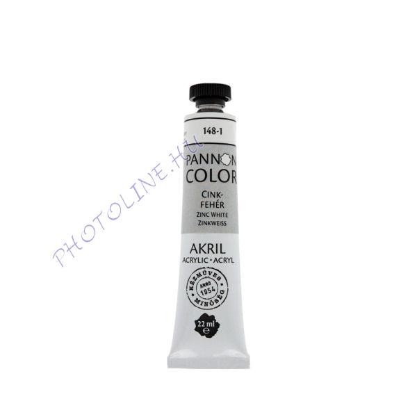 Pannoncolor akrilfesték CINKFEHÉR 22ml