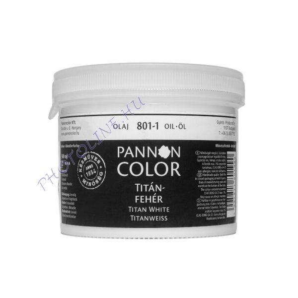 Pannoncolor olajfesték TITÁNFEHÉR (1,3kg) 500ml