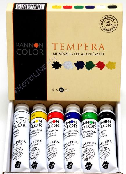 Művésztempera 6 színű készlet 18ml