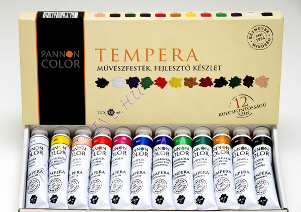 Művésztempera 12 színű készlet 18ml