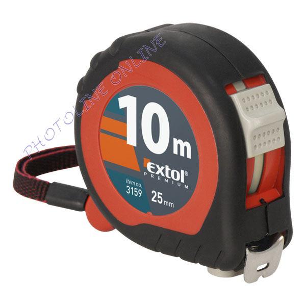 Mérőszalag, gumírozott, 2 stoppos 10m×25mm (3159)