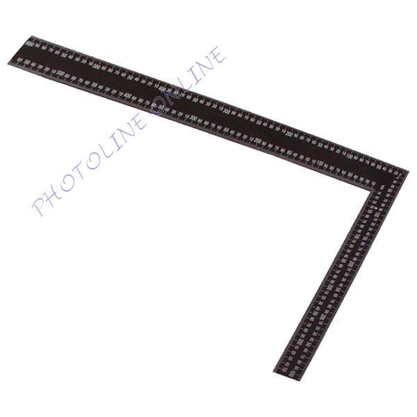 Ács derékszög, cm, col beosztással, festett acél 400×600mm