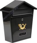 Postaláda 380x320x105MM fekete metál