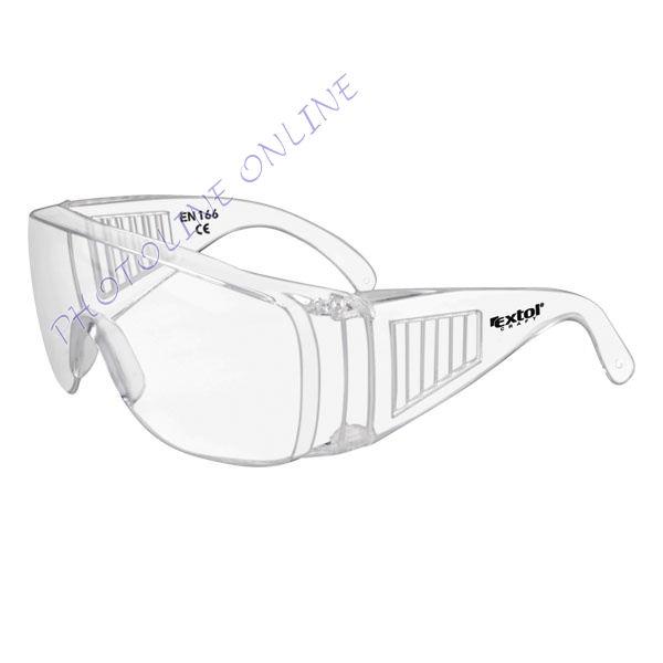 Védőszemüveg, víztiszta, polikarbonát, CE optikai osztály: 1, ütődés elleni védelmi osztály: S (97302)