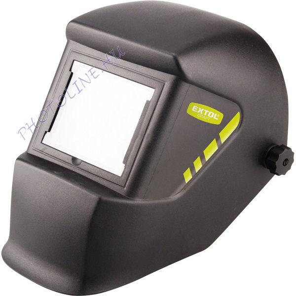 Fejpajzs hegesztéshez, fekete üveggel DIN 13, 100x85mm