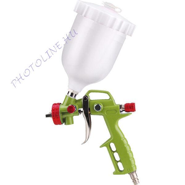 Festékszóró pisztoly, műanyag felsőtartályos, 600ml tartály (99314)