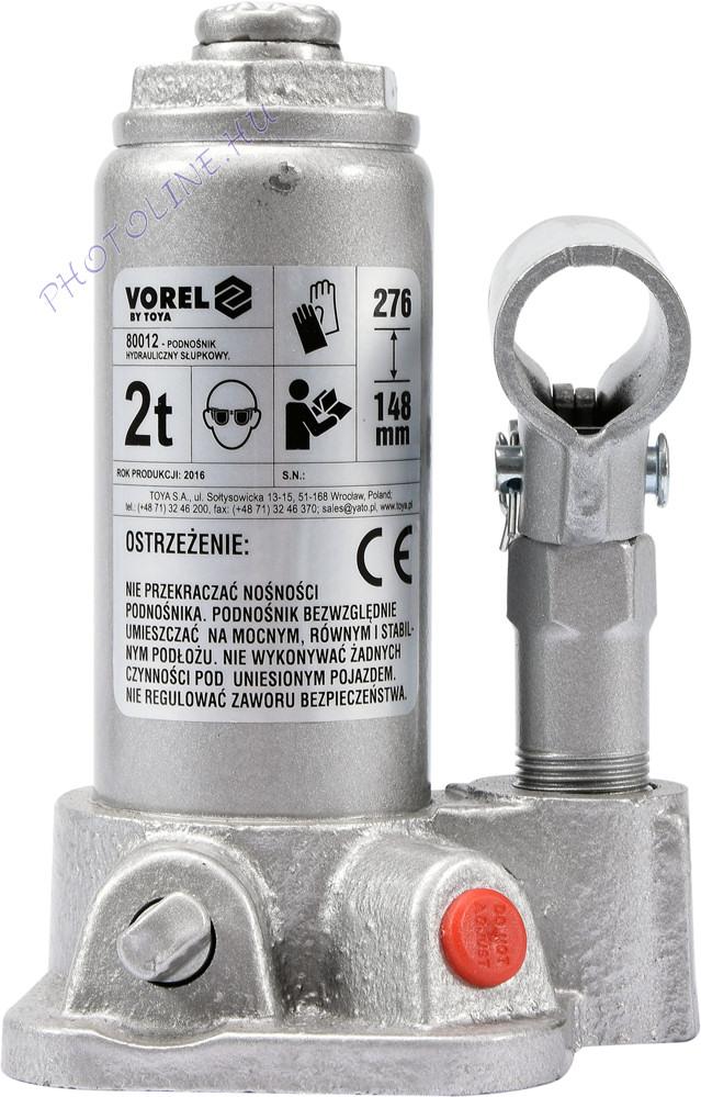 Hidraulikus emelő 2T, 148 - 276 mm-ig