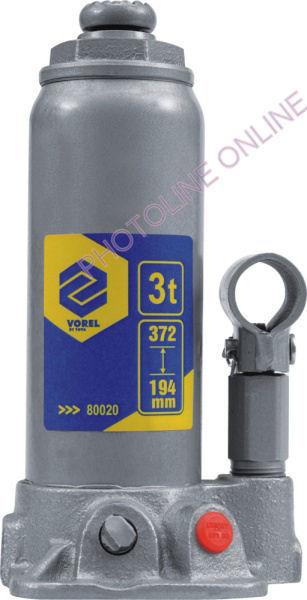 Hidraulikus emelő 3T, 372 mm-ig