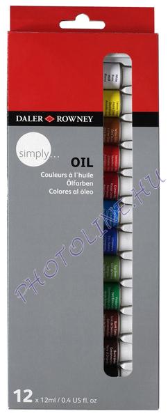 Művész olajfesték 12ml*12 szín, Daler-Rowney
