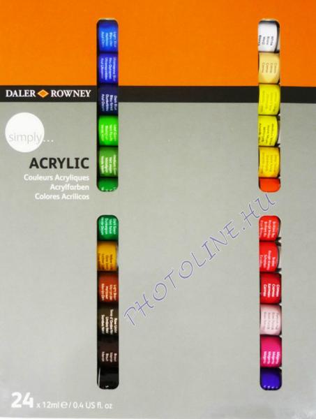 Daler-Rowney acryl festékkészlet 24x12ml