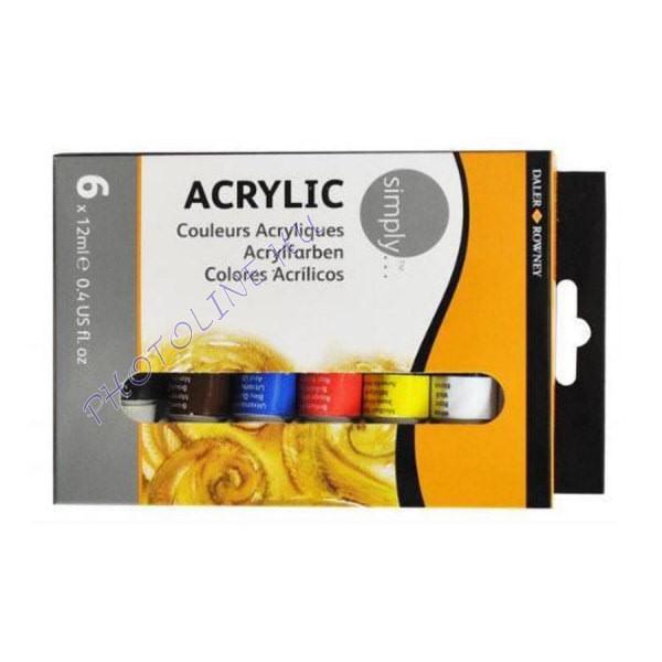 Daler-Rowney acryl festékkészlet 6x12ml