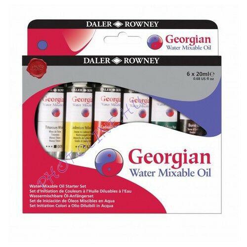 Georgian vízzel keverhető olajfesték készlet 20ml*6 szín, Daler-Rowney
