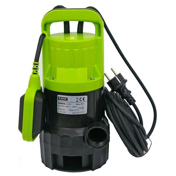 Szennyvíz szivattyú, 400W Extol Craft, szállító teljesítmény: 9m3/h, max. száll. 6 m (84504)