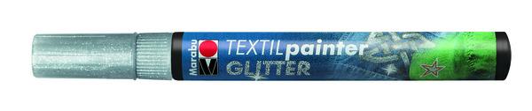 Textil Filctoll glitter EZÜST 3mm