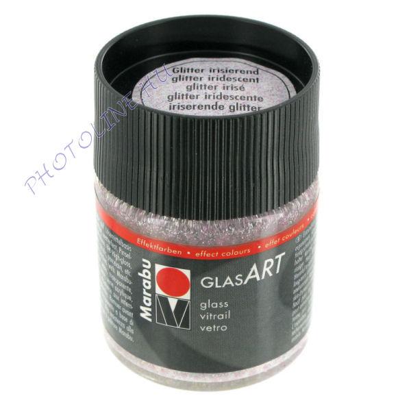 Marabu GlasART oldószeres festék, glitter IRIZÁLÓ 50ml