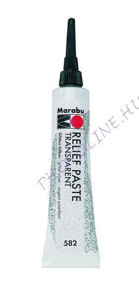 Marabu Relief paszta glitter EZÜST 20ml