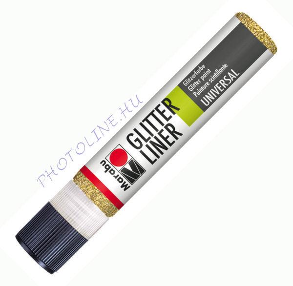 Glitteres Liner ARANY 25ml