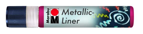 Metáleffekt Liner VÖRÖS 25ml