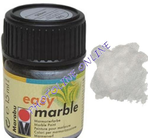 Easy Marble márványozó festék EZÜST 15ml