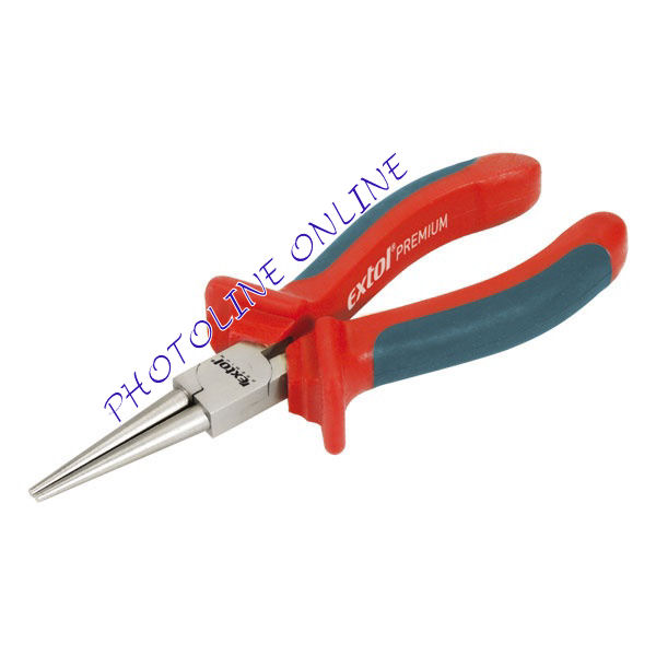 Kerek csőrű fogó, 160mm, duál narancs/kék TPR nyél