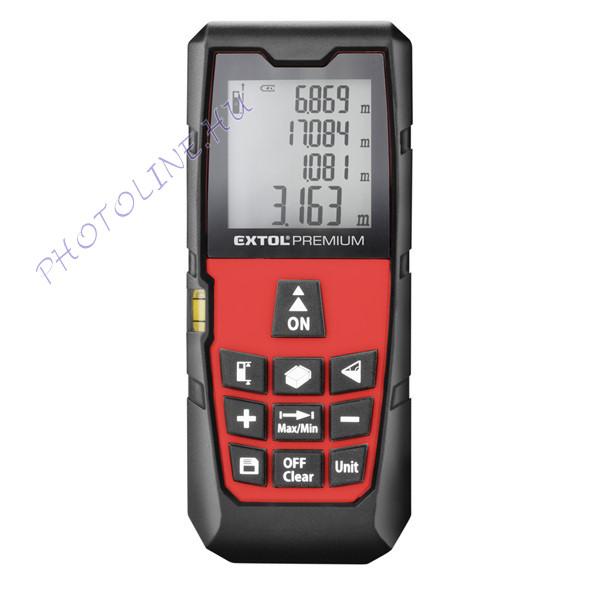 EXTOL PREMIUM Távolságmérő, digitális lézeres, 0,05-80m mérési tartomány (8820043)