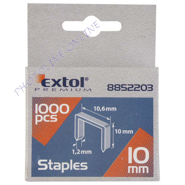 Tűzőgépkapocs profi 1000db, 8mm (10,6×1,2×0,52mm) (8852202)