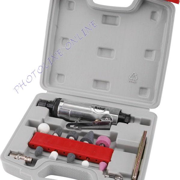 Pneumatikus furatköszörű készletben, 16db, befogás: 6mm/3mm (8865002)