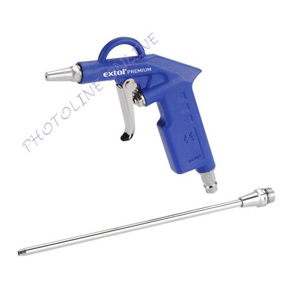 Lefuvató pisztoly 2 fúvókával, rövid+21cm fúvóka, max. 8 Bar (8865060)