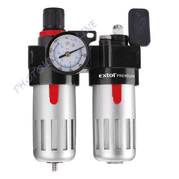 Levegőelőkészítő: légszűrő nyomásszabályozóval, olajozóval és manométerrel (8865105)