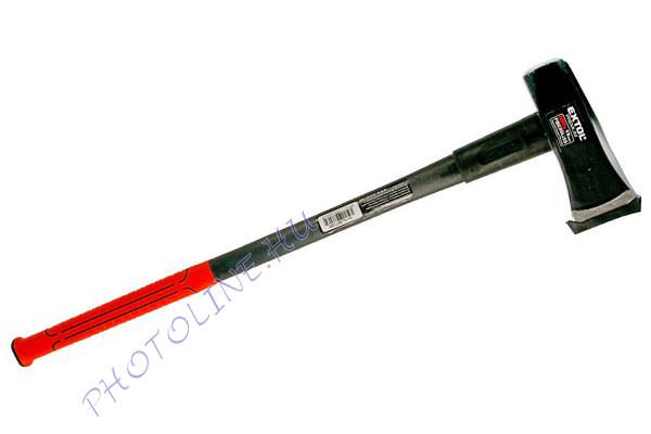 Hasító fejsze, üvegszálas nyél 3000g, nylon erősítéssel, 910 mm hosszú, TPR gumis markolat 8871288