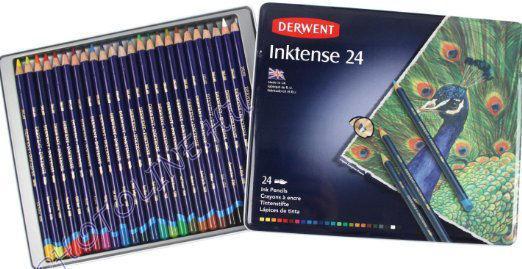 Derwent inktense tintaceruzák, 24 szín