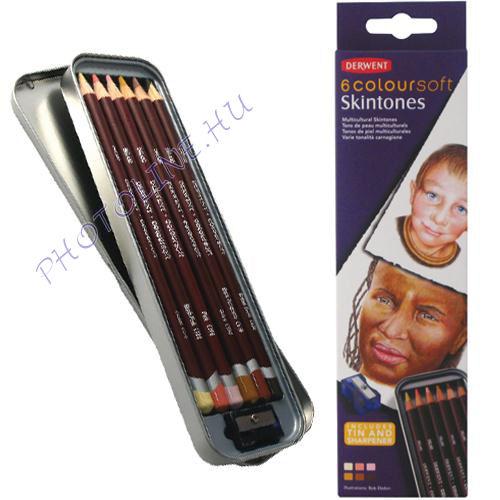 Derwent coloursoft ceruza arctónusok, 6 szín
