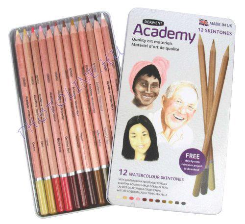 Derwent academy akvarell ceruza arctónusok, 12 szín