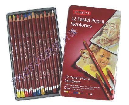 Derwent pasztell ceruzák, arctónushoz, 12 szín